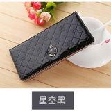 Nuovo pacchetto luminoso coreano della scheda della signora Long Wallet Multi Card dell'ombrello della pelle verniciata piccolo