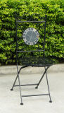 Venda quente preta em volta da cadeira de dobradura do mosaico