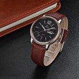 El acero inoxidable del cuarzo mira a hombre de lujo Wristwatch72250 de la correa de cuero de los hombres