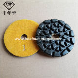 Tampón para pulir de pulido del suelo flexible seco mojado del diamante del metal de la resina