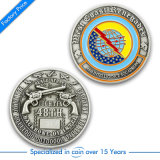 Moneta d'argento di sfida antica in lega di zinco