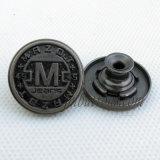 Tecla das calças de brim do metal do preto do injetor de Matt para o acessório do vestuário