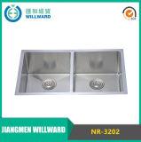 Artigianato calibro 18 Nr-3202 in acciaio inox 304 Kitchen Sink