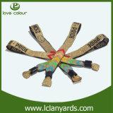 Preço de grosso tecido do Wristband do festival costume estival