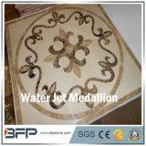 Medallón caliente del suelo del jet de agua del mármol del cuadrado de la venta para el pasillo y el hotel