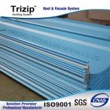 Toiture enduite d'une première couche de peinture Triroof65-470 de couture de position d'acier