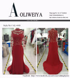Aoliweiya Satin / Lace Ceremonial Clothing Evening Prom Dress