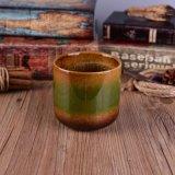 反応Glazing&#160の手塗りの蝋燭ホールダー;