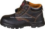 Искусственный кожаный ботинок безопасности с подошвой PU
