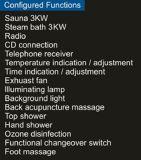 1800mm Stoom combineerde Sauna met Douche (bij-D8857)