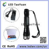 A lanterna elétrica da luz UV usa 3W vermelho