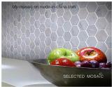 床タイル(FYSC364)のための建築材料の混合されたカラー六角形の自然な石造りの大理石のモザイク