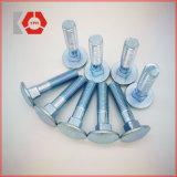 Boulon de transport plaqué (BLEU) d'acier du carbone de zinc DIN 603