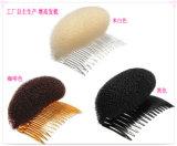 Ciambella verificata dei capelli di modo del commercio all'ingrosso della fabbrica degli accessori dei capelli con il pettine