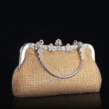 Ouro brilhante da bolsa nova do teste padrão da pedra do saco das mulheres da forma/senhoras de prata que nivelam os sacos de embreagem Eb809