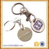 Moneta in lega di zinco Keychain con l'incisione di marchio del cliente 3D