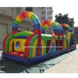 Aufblasbares Obstacl Tunnle bunt/Vergnügungspark für Kinder/aufblasbares Schloss