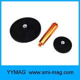 De Sterke Pot van uitstekende kwaliteit van de Magneet van het Neodymium Rubber Met een laag bedekte met Handvat