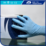 Порошок перчатки нитрила голубого цвета устранимый освобождает, качество еды и медицинская ранг Aql1.5