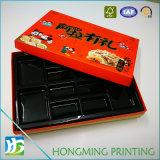 Lujo pieza inserta plástica del rectángulo de papel del alimento de 2 pedazos