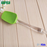 Maniglia Spoon+Spatula 2 del silicone Head+ pp del commestibile in 1 media di Spoonula