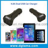 4.8A verdoppeln USB-Kanal-intelligentes Auto-Aufladeeinheits-Adapter-Schwarzes