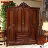 Caminhada no Wardrobe de madeira cinzelado do armário dos Armoires com gavetas (GSP17-025)
