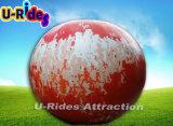 De openlucht bal van de reclame opblaasbare reuzebol met duidelijke aardekaart