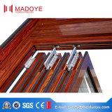 Porta de dobradura de vidro do perfil de alumínio