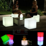 LED Cube Stool Color Changing Furniture avec télécommande
