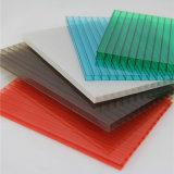 La couche UV de 50 microns a coloré la double feuille de polycarbonate de mur de 3mm