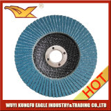 4.5 '' discos abrasivos de la solapa del óxido del alúmina del Zirconia con la cubierta 22*14m m de la fibra de vidrio