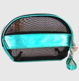 旅行使用の携帯用小さく装飾的な袋のためのジッパーが付いているPUの構成袋