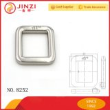 Curvatura de suspensão do anel do quadrado do metal niquelar com nome
