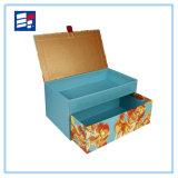 Caixa de papel feita sob encomenda da parte superior para o presente e a jóia da embalagem