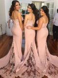 Платье Bridesmaid Mermaid Застежки -молнии-вверх шнурка планки спагеттиа (Dream-100022)