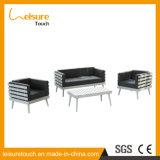 Assento dobro ajustado do sofá impermeável de alumínio ao ar livre da mobília do jardim