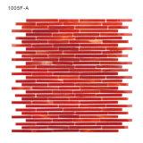 Telhas de vidro do mosaico de Backsplash da cozinha material da decoração da cor vermelha
