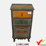 [فرنش] أسلوب أثر قديم خشبيّة بالية [شك] جانب سرير خزانة