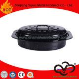 楕円形のエナメルのカセロールのロースターのオーブンの耐熱の深皿の台所用品の台所機器