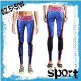 Pantaloni di yoga delle ghette di forma fisica delle donne stampate sublimazione su ordinazione poco costosa all'ingrosso