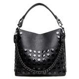 Sacs d'emballage cloutés par cuir synthétique chaud de dames de sac à main de mode avec la chaîne Sy7996 en métal
