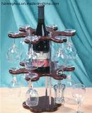 Cremagliera classica di vetro di vino con memoria della bottiglia e di doppio strato