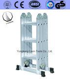 Escala de aluminio caliente de la plataforma de trabajo de la venta de los pasos de progresión 4*3