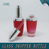 1 oz 30 ml Parfums colorés et parfums Press Pump Dropper Glass Bottle