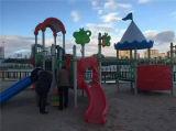 Спортивная площадка скольжения коммерчески малышей игр малыша напольная напольная пластичная