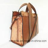 PU 상표 디자인 숙녀 핸드백 여자 가죽 서류 가방 (NMDK-041103)