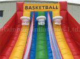 Jeux gonflables de pousse de basket-ball de prix usine à vendre, jeux gonflables de sport
