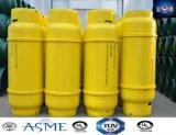 bombola per gas riutilizzabile media della saldatura di pressione 840L per cloro liquefatto