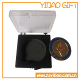 Moneta su ordinazione del piatto d'ottone dell'oggetto d'antiquariato di marchio (YB-HD-94)